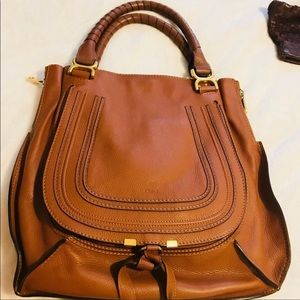 Chloe large Luggage leather satchel